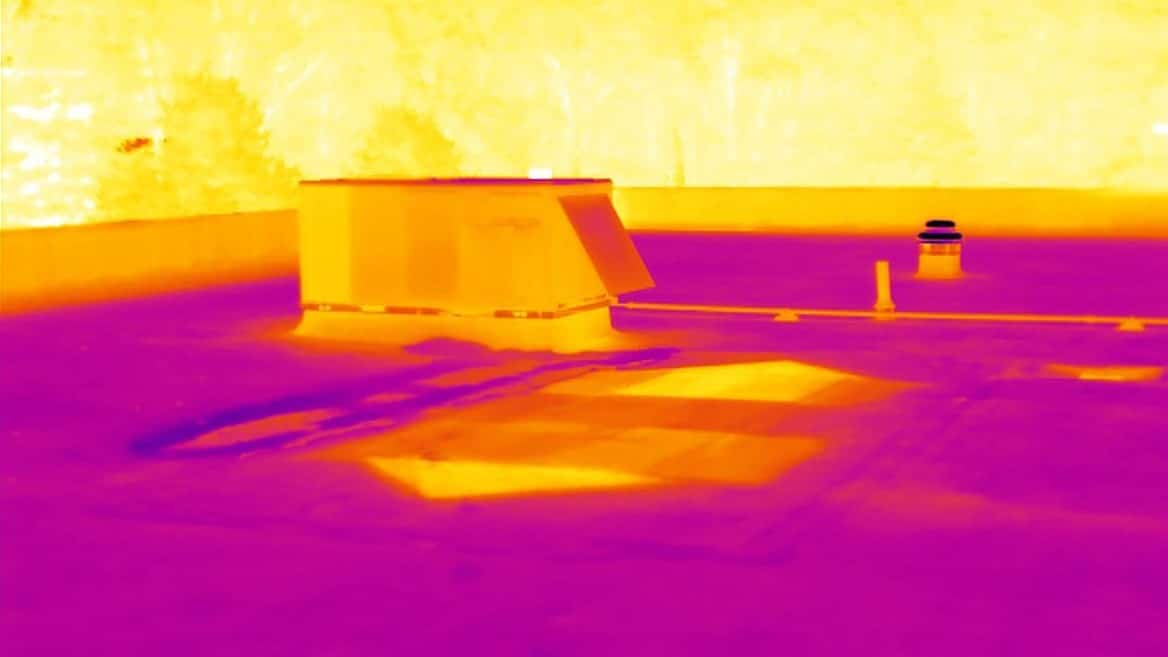 Flat Roof Infrared Thermal Moisture Inspection Monroe